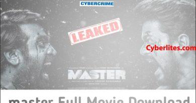 மாஸ்டர் திரைப்படம் இணையத்தில் வெளியானது | Master Movie Leaked Online